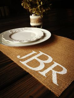 Muslin Backed Burlap Placemats, Set of 6, Your Choice in Color and Light or Natural Burlap, Weddings, Rustic Cottage Shabby Chic on Etsy, $45.00