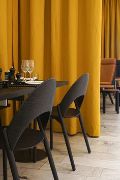 Positano Yes Restaurant, NK, Stockholm by Monica Förster Design Studio Positano Restaurant, Nordic Design, Restaurant Design, Warm Colors, Stockholm, Bar Stools, Dining Chairs, Studio, Home Decor
