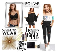 """Romwe 2"" by amelaa-16 ❤ liked on Polyvore featuring Haute Hippie, Gucci, Urban Decay and romwe"