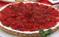 Tarta de crema pastelera y fresas Flan, Favorite Recipes, Desserts, Brownies, Cakes, Drink, Birthday, Microwaves, Raspberry Cake