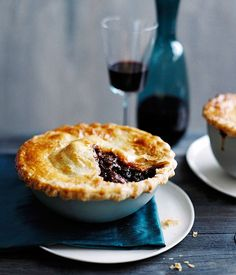 Australian Gourmet Traveller recipe for Beef, red wine and cavolo nero pies
