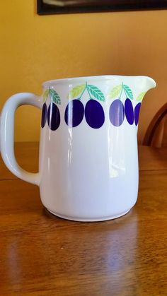 Arabia of Finland Pomona Plum Pitcher by RubyJeansAttic on Etsy