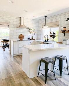 Home Renovation Ideas - Modern Farmhouse Master Bathroom Renovation with Delta: The Process Home Decor Kitchen, Diy Kitchen, Home Kitchens, Kitchen Ideas, Kitchen Cabinets, Kitchen Hacks, White Ikea Kitchen, Kitchen Counters, Ikea Kitchens