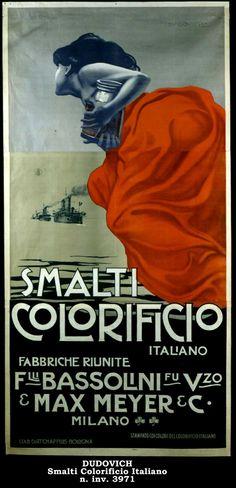 Vintage Italian Posters ~ #illustrator #Italian #vintage #posters ~ Il manifesto nella pubblicità - Dudovich