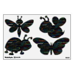 London Text Design I Wall Decals Bugs
