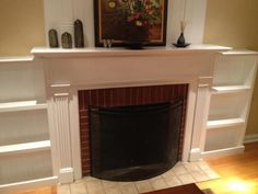 Built In Bookcase Fireplace . Elegant Built In Bookcase Fireplace . Living Room Makeover the Hoppy Home Bookshelves Around Fireplace, Built In Around Fireplace, Build A Fireplace, Fireplace Built Ins, White Fireplace, Bookshelves Built In, Fireplace Remodel, Fireplace Design, Fireplace Mantels
