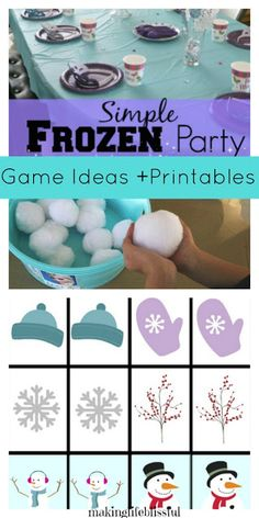 Making Life Blissful: Simple FROZEN Birthday Party Ideas - 2