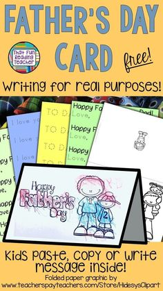 Sharing is Fun and free printable Father's Day card for kindergarten and first grade students! Source by heftie More from my siteThis free printable Father's Day Coloring Page is for the best dad! So fun t…Fill in the Blank Father's Day Cards Fathers Day Post, Fathers Day Messages, Fathers Day Crafts, Kindergarten Lesson Plans, Preschool Kindergarten, Free Education, Elementary Education, Special Education, Father's Day Activities