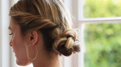 Romantic up-do that comes together in minutes!