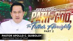 Staying in the Path of God, The Father Almighty - Part 2 Great Leaders, Son Of God, Apollo, Worship, Sons, Father, Spirituality, Day, Fresh