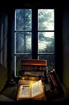 sonia-in-a-bookish-world: There's always a little bit of magic in rainy days… Rainy Day Read by FictionChick I Love Books, Books To Read, World Of Books, Old Books, Photos Of Books, Book Nooks, Library Books, Book Nerd, Belle Photo