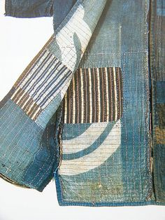 Neville Trickett - detail of antique kimono, Boro, much mended much patched