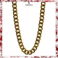 Handmade short gold women's chain from gold-plated aluminium 38 cm long and 12mm link width.This particular chain is fairly light and can be worn comfortably all day long. The No1 trend for this year in women's jewelry.----------------------------------------------------------Χειροποίητη χρυσή αλυσίδα λαιμού γυναικεία κοντή από επιχρυσωμένο αλουμίνιο μήκους 38cm και πλάτος κρίκου 12mm. Η Νο1 τάση για φέτος στα γυναικεία κοσμήματα!