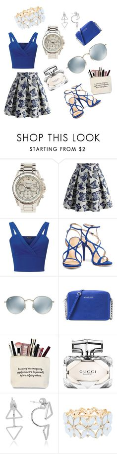 """""""Untitled #133"""" by fashionista-nyiaaa ❤ liked on Polyvore featuring Charlotte Russe, Chicwish, Miss Selfridge, Schutz, Ray-Ban, Michael Kors and Gucci"""
