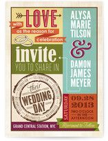 These eclectic invitations are really fun to look at!