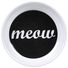 ORE Pet Meow Melamine Bowl - Make a statement at your cat's meal time. A lightweight, dishwasher safe bowl with a stylish design that will stand the test of time. Completely non-toxic.
