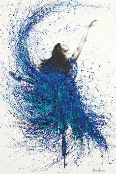 Teal Wave Dance Canvas Art Print by Ashvin Harrison Art Ballet, Ballet Painting, Dance Paintings, Abstract Canvas Art, Canvas Art Prints, Ballerina Kunst, Dreamland, Wave Dance, Dancing Drawings