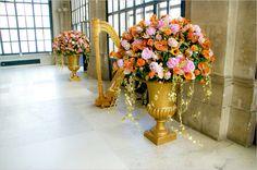 pastel gold bouquets Gold Bouquet, Bouquets, Glass Vase, Floral Wreath, Pastel, Wreaths, Home Decor, Flower Crowns, Pie
