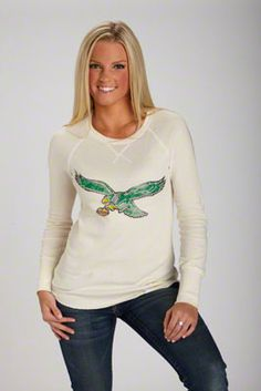 Philadelphia Eagles Women's Retro Long Sleeve Thermal