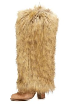 Create a buzz apres-ski or simply enjoy cozy warmth at home in over-the-top leg warmers. In distinctive Tipped Fox, you'll love this neutral that works with everything from Black and Camel to Taupe and Ivory. Tipped Fox takes nature's most beautiful fur and makes it more so! A bit softer and lighter in weight than animal fur, this fabulous faux is an incredible mix of Tans and Taupes, slightly darker at the base with a hint of Grey. Lightly tipped with Dark Brown, Tipped Fox warmers m...