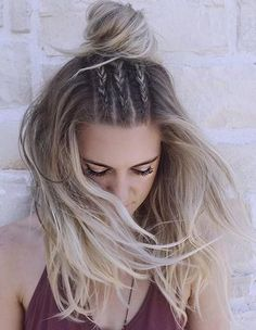 ombre hair. braids.