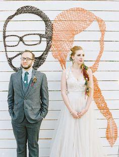 Creative Wedding Ideas: 6 Super Sweet DIY 'String Art' Wedding Decor Ideas!