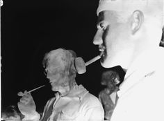 From the Harvard Art Museums' collections [Laurence and Lux Feininger smoking pipes, Deep, Baltic Coast]