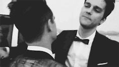 Cries bbecause dallon isn't in the band anymore