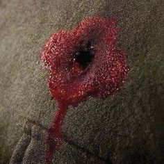Such a powerful depiction of a poppy. Remembrance Day Poppy, Close To My Heart, Photo Art, Poppies, Badge, Painting, Forget, War, Bullet