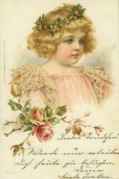 Frances Brundage vintage postcard