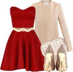 Polyvore Valentine's Day Casual Red Short & Long Dresses Ideas For Girls & Women 2014   Girlshue