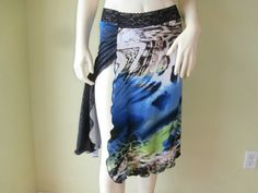 Argentinian Tango & Salsa  Skirt with high Slit  by COCOsDANCEWEAR