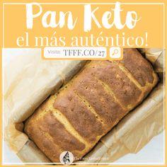 Visit the post for more. Pan Cetogénico, Comida Keto, Diet Recipes, Healthy Recipes, Keto Bread, Fodmap, Banana Bread, Healthy Life, Low Carb