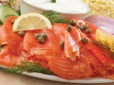 Smoked Salmon Platter, a Christmas morning tradition in the D'Isselt family for years and years and years.