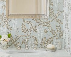 Cole & Son Egerton wallpaper Michelle's bathroom l Gardenista