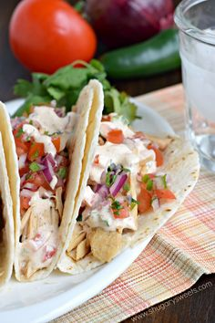 Tequila Chicken Tacos - Shugary Sweets