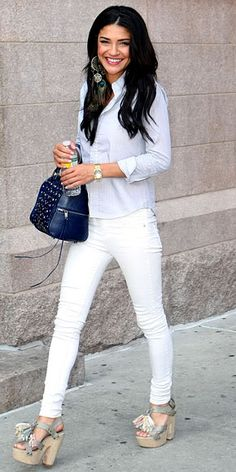 Loving the White Jeans