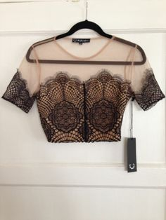 For Love and Lemons Antigua Crop Top - Small