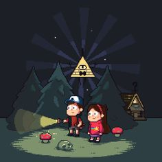 PIXEL ON YOU, PIXEL ON YOUR COW | it8bit:   Gravity Falls  Created by Karina Dehtyar