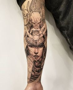 Samurai in progress by David (@davidhoangtattoo) done at Chronic Ink Tattoo - Toronto, Canada