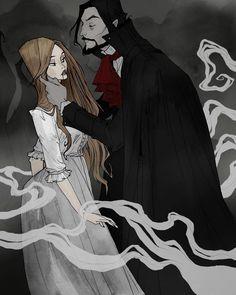 Dracula by Abigail Larson Dark Fantasy Art, Dark Art, Castlevania Anime, Arte Lowbrow, Abigail Larson, Character Art, Character Design, Bram Stoker's Dracula, Vampires And Werewolves