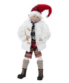 Look what I found on #zulily! Winter Coat Posable Elf Figure #zulilyfinds