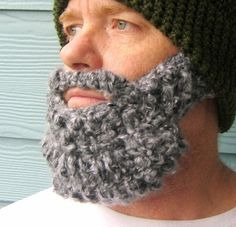 free Crochet Bearded Beanie Hat Pattern | Crochet PATTERN Beard Hat PATTERN Beanie by ... | Crochet Beards & Mu ...