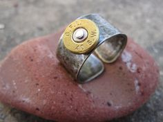 Hand Forged Bullet Rim Ring