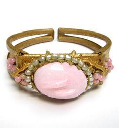 VINTAGE Miriam HASKELL Bracelet GLASS Pearl di DrivingMissMoppet vintage costume jewelry x