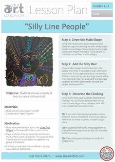 Silly Line People Kindergarten project