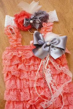 Hey, I found this really awesome Etsy listing at http://www.etsy.com/listing/126460274/newcoral-pink-petti-romper-setbaby-girl
