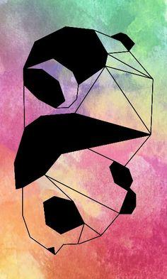 Panda♡ colores. Animal geometrico