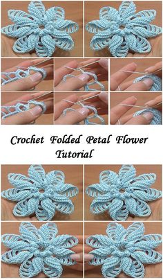 Crochet Folded Petal Flower | Design Peak