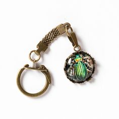 Brelok z żuczkiem/Beetle Keychain - Art-Of-Nature